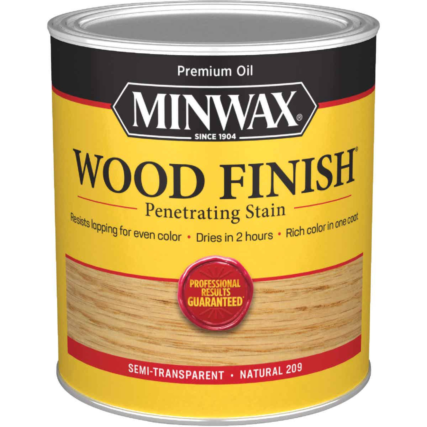 Minwax Wood Finish Penetrating Stain, Natural, 1 Qt. Image 1