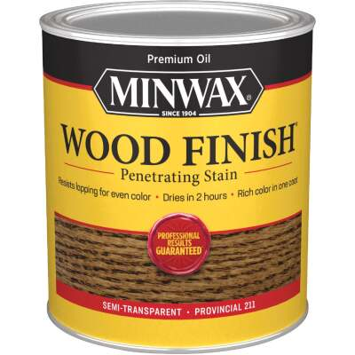 Minwax Wood Finish Penetrating Stain, Provincial, 1 Qt.