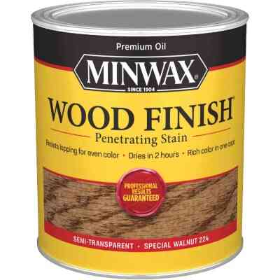 Minwax Wood Finish Penetrating Stain, Special Walnut, 1 Qt.