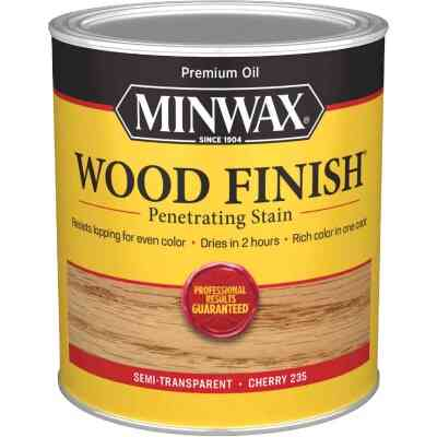 Minwax Wood Finish Penetrating Stain, Cherry, 1 Qt.