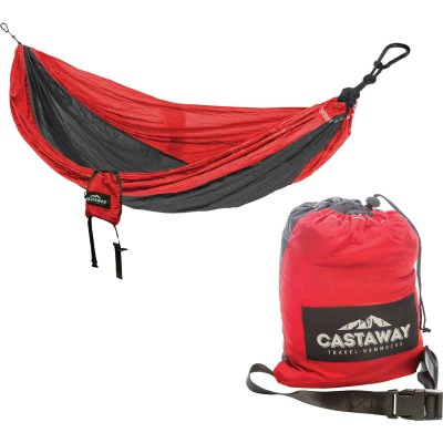 Castaway All-In-One Nylon Red Travel Hammock
