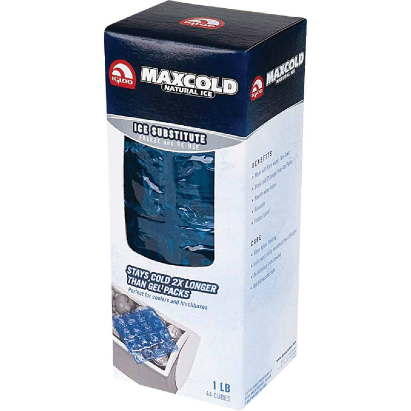 Igloo Maxcold 1 Lb. Blue Ice Cube Sheet Image 1