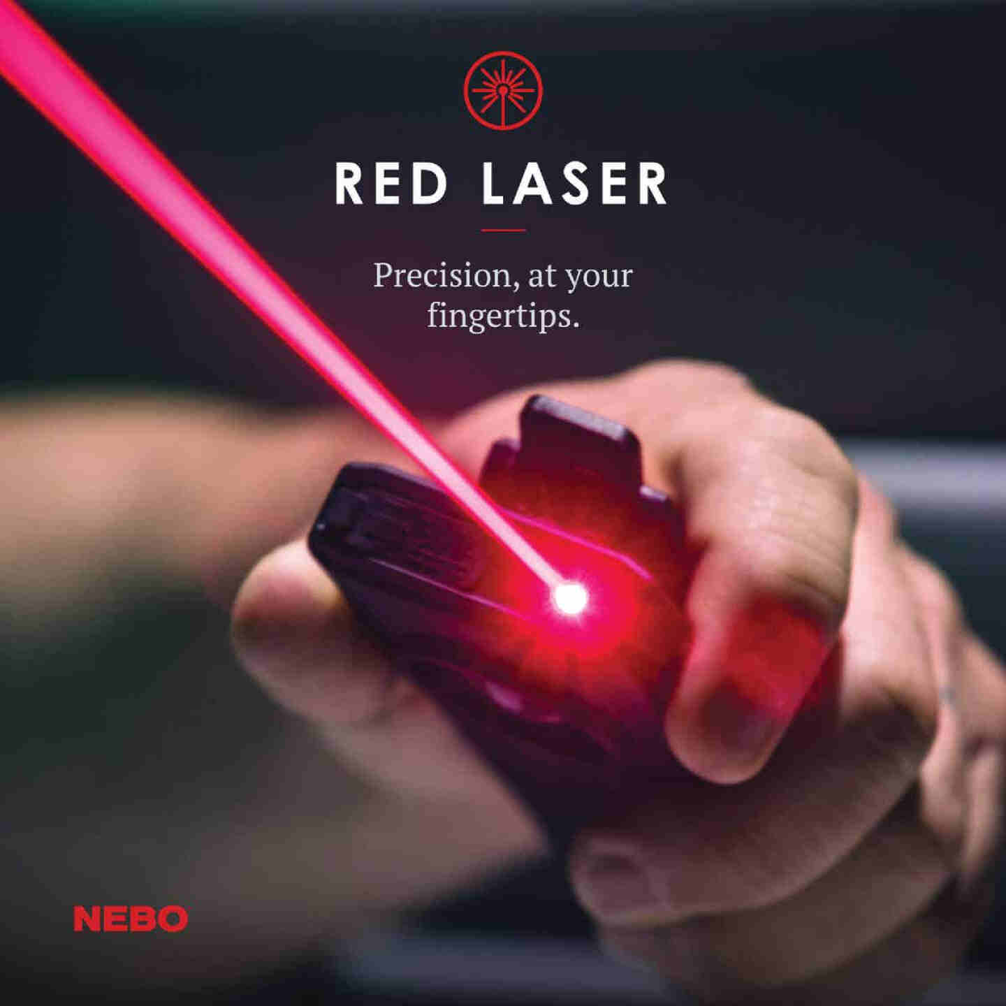 Nebo Slim+ LED Anodized Aluminum Rechargeable Flashlight with Red Laser Pointer Image 3