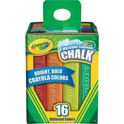 Crayola Multi Color Washable Sidewalk Chalk, (16-Count)